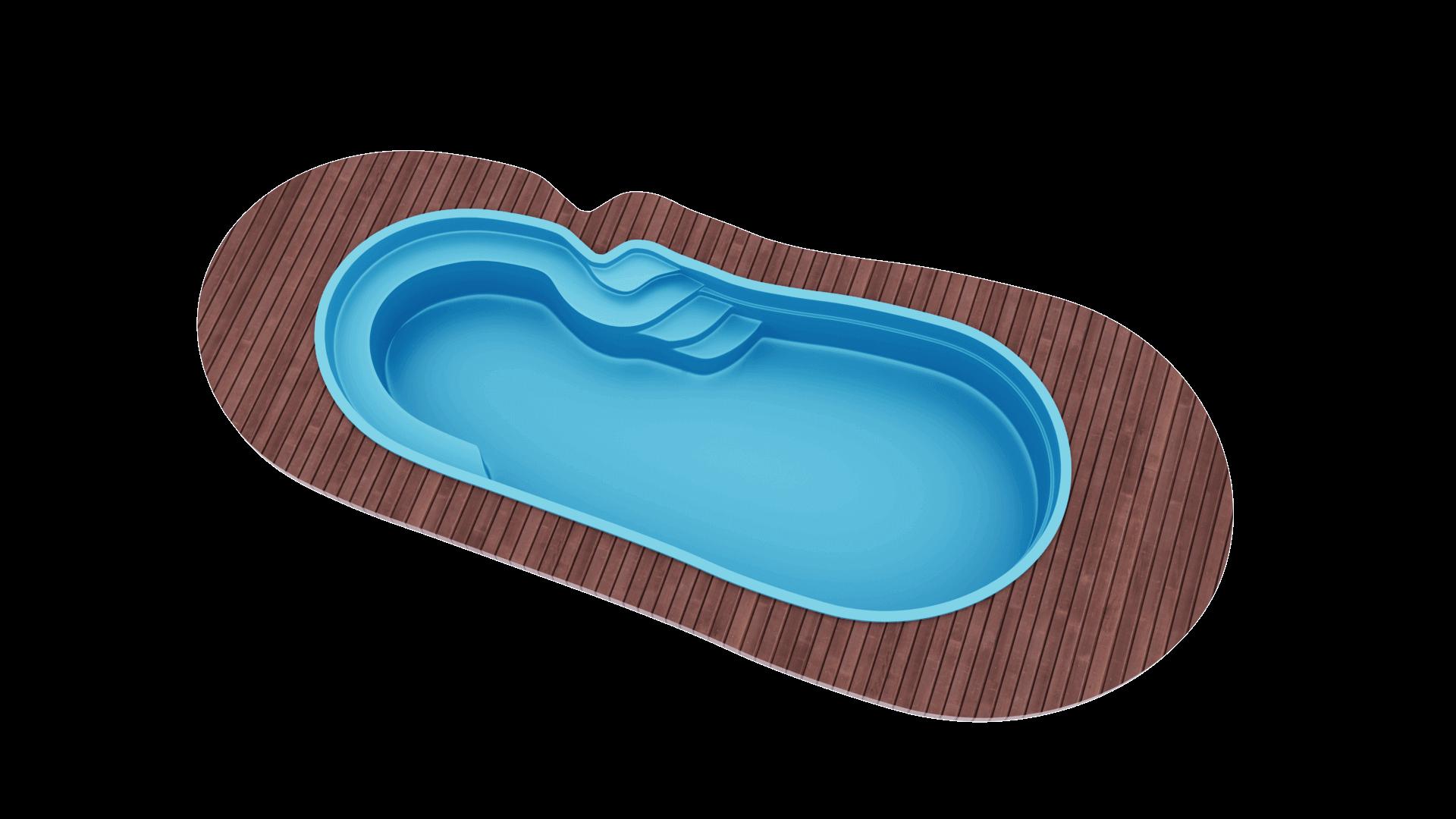 Бассейн 8,0х3,5х1,2-1,6